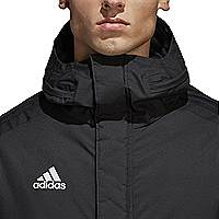 Adidas Condivo 18 winter jacket front detail