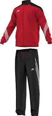 4f6f5349ada0 Adidas Sereno 14 polyester tracksuit red