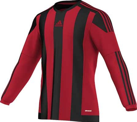 Adidas striped football jersey red-black