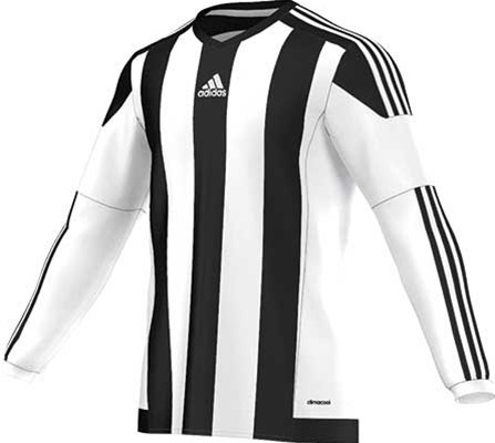 Adidas striped football jersey black-white