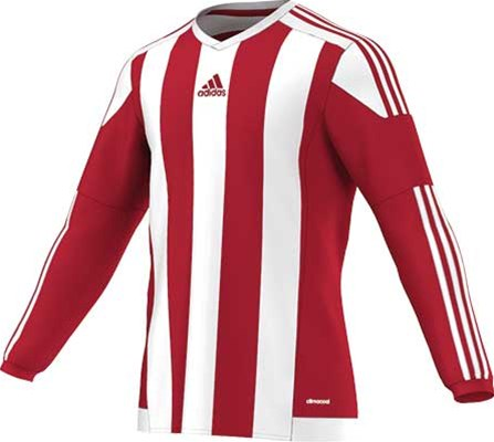 Adidas striped football jersey white-red