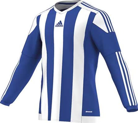 Adidas striped football jersey royal-white