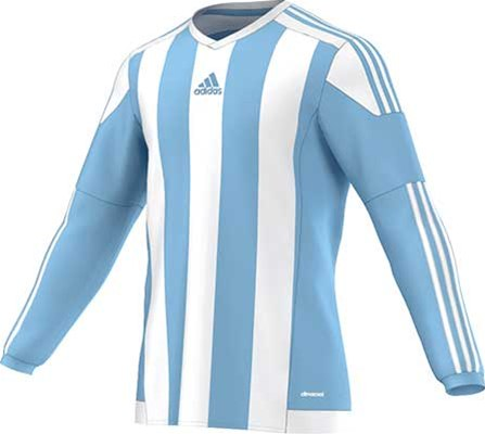 Adidas striped football jersey sky-white