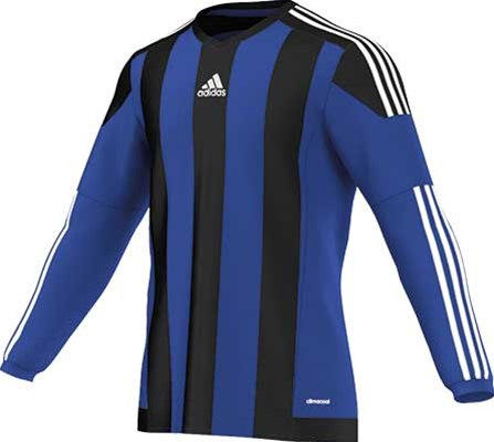 Adidas striped football jersey royal-black