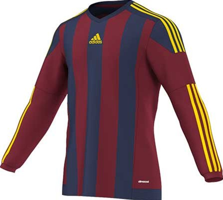 Adidas striped football jersey maroon-royal
