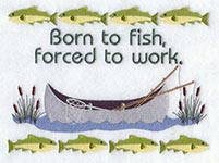 fishing embroidery