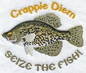 fishing embroidery badge