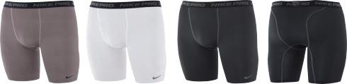 Nike long compression shorts