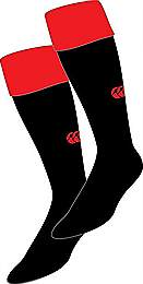 Canterbury Team Cap Socks Black-Red