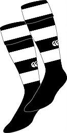 Hooped socks black-white