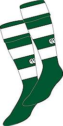 Hooped socks green-white