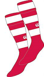 Hooped socks red-white