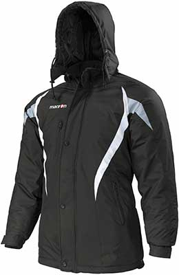 macron squire jacket black-white