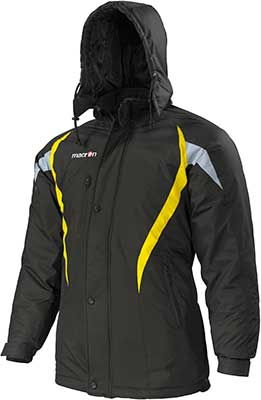 macron squire jacket black-yellow