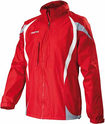 macron baron rain jacket red