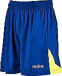 Mitre Prism football shorts navy-yellow