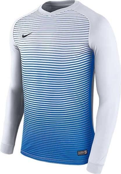 3071af5d9 Nike Precision IV Long sleeve jersey white-royal