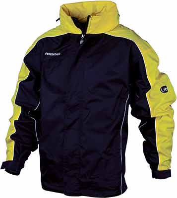 Prostar hurricane rain jacket black-yellow
