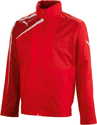 puma team spirit rain jacket red