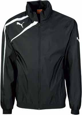 puma team spirit rain jacket black