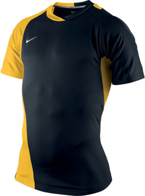 yellow and black nike shirt
