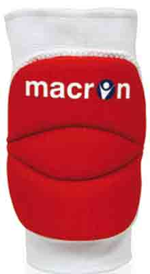 macron wall knee pads red