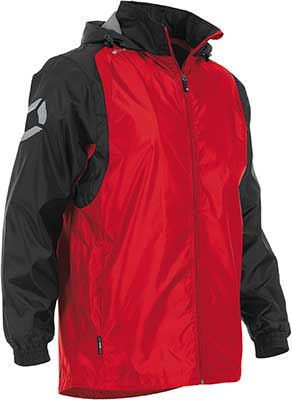 Stanno Centro Rain jacket red-black