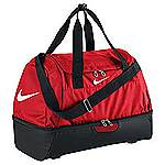 Nike swoosh hard case holdall red