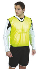 Yellow Mesh training bibs