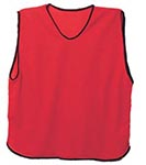 red mesh training bibs