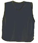 Black mesh training bibs