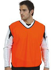 Orange Mesh training bibs