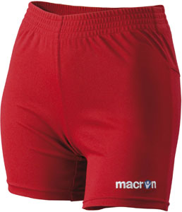 macron Alba shorts click on image to enlarge red