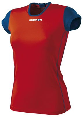 Macron saba volleyball shirt click on image to enlarge red