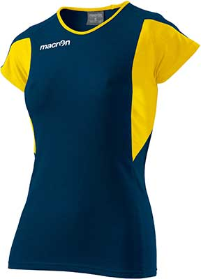 macron chlorine volleyball shirt navy-yellow
