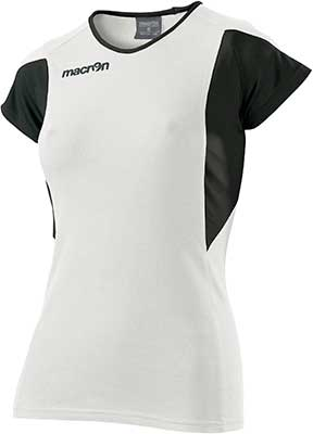 macron chlorine volleyball shirt white