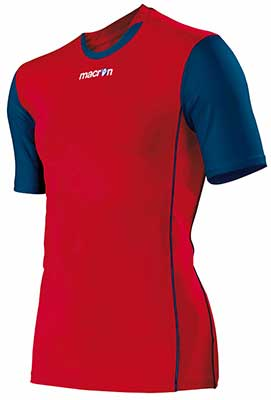 Macron congo mens volleyball shirt red-navy