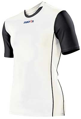 Macron congo mens volleyball shirt white
