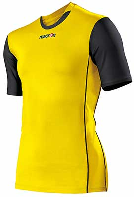 Macron congo mens volleyball shirt yellow